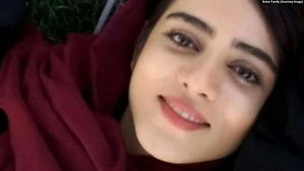 Sahar: The 'Blue Girl' of Iran, struck down